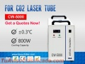 CW5000 Enfriador de agua para máquina de corte por láser CO2 220 / 110V 50 / 60Hz